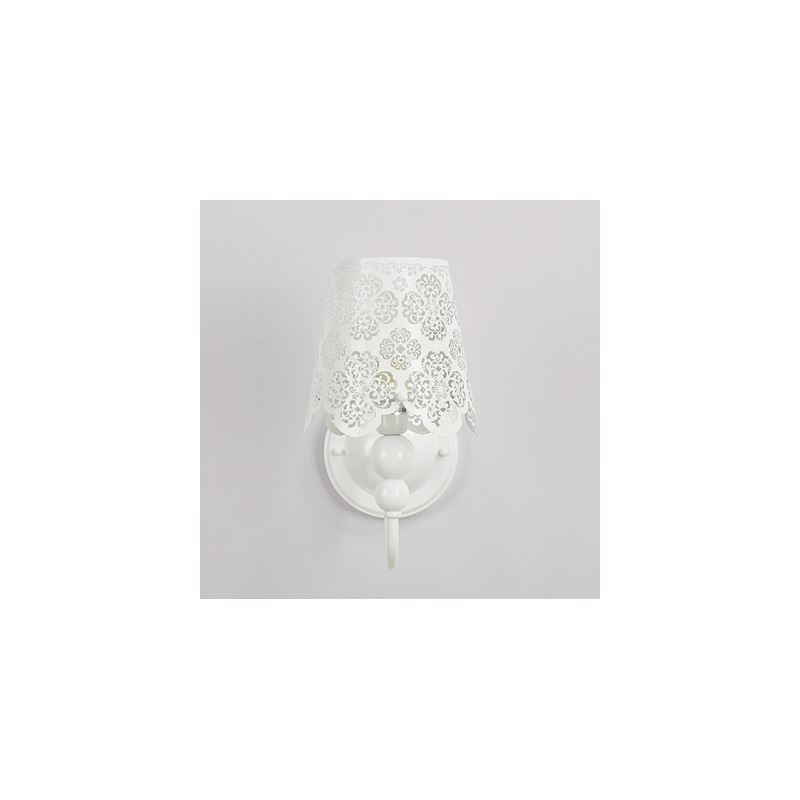Image of 10.6??High Floral Carved Stainless Steel Designer Wall Light