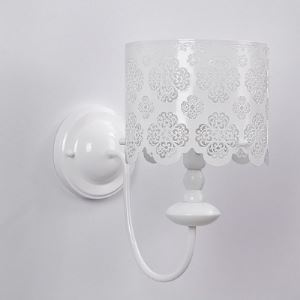 Drum Floral Carved Stainless Steel Designer Wall Light
