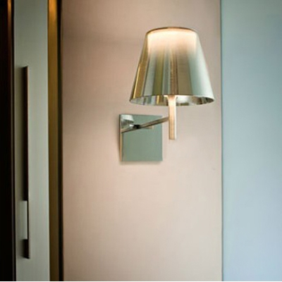 Bright Acrylic Cone Shaded Designer Wall Sconce with Square Canopy - Homelava.com