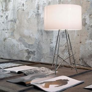 "Aluminum Drum Shade 14.1""Wide Designer Table Lamp"
