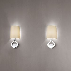 Modern Chrome Finished Sconce Classic Fabric Shaded Designer Wall Light