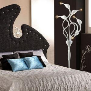 Graceful White 5-light Whimsical Design LED Swan Floor Lamp