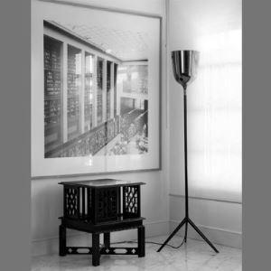 Wine Cup Floor Lamp in Black by Designer Lighting