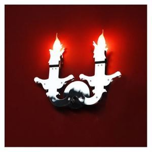 Cool Chrome Candle-lighted Gun Wall Light with 2 Lights