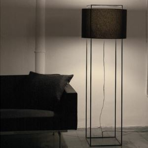 "Fabric Drum Shade 64.9""High Classic Designer Floor Lamps"
