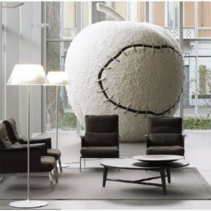 51.18inch High Cone Shaded Designer Floor Lamps