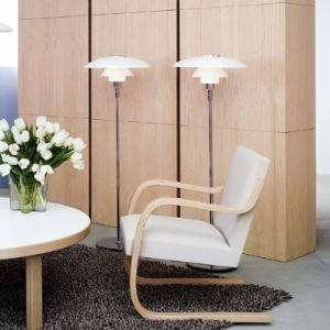 Contemporary Floor Lamp UFO Shaded Modern Designer Lighting
