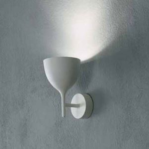 Mini 1-light White Finished Wine Cup Wall Light