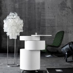 Shell Droplet Shaded White Floor Lamp