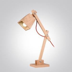 "Swing Arm and 19.6""High Wood Designer Kid's Room Table Lamp"
