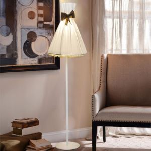 "Romantic and White Fabric Umbrella Shaped 66.9""High Designer Floor Lamp"