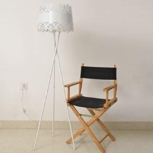 Brilliant Design Tripod Base and Flower Carved Designer Floor Lamp