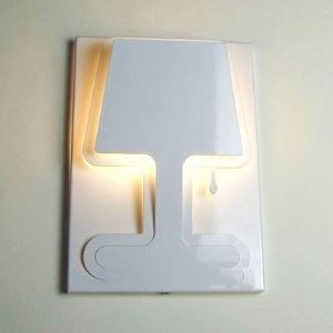 Mysterious Shadow Sconce Modern White Finished Wall Light Designer Style
