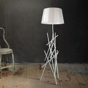 Black/White Wrought Iron 62.9'High Designer Floor Lamp