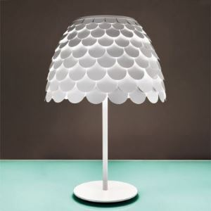 Novelty Pine-cone Shaped Beautiful White Designer Table Lamp