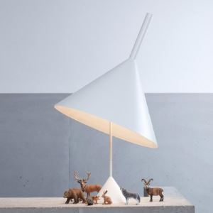 "Cone Shaded Designer Table Lamp in 35.4""High Light up Your House"