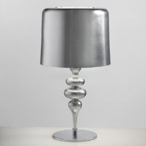 "Bright Silver Finished Beautiful Designer Table Lamps in 22.8""Height"