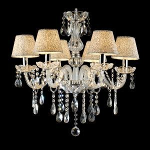 European Style Contemporary Crystal Chandelier With 6 Lights