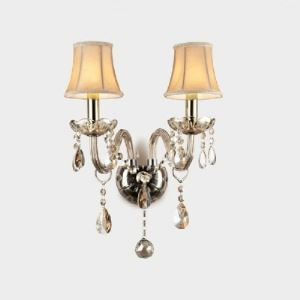 Shining Modern Crystal Accent  Wall Sconce with Graceful Scrolling Arms Creating Elegant Embellishment to Feminine Room