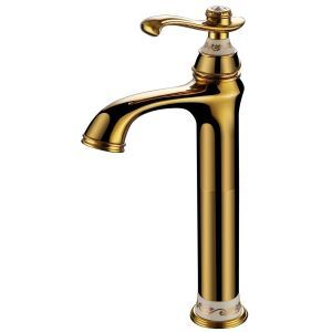 Modern Ti-PVD Bathroom Sink Faucet Single Handle B
