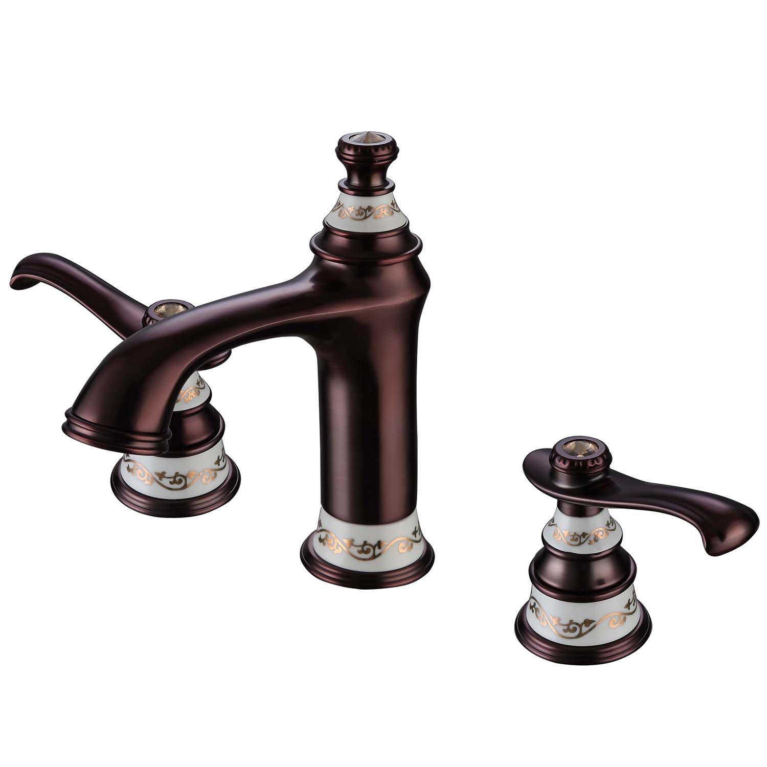 Faucets Bathroom Sink Faucets Modern Orb Bathroom Sink Faucet 3 Hole Installation Double Handle