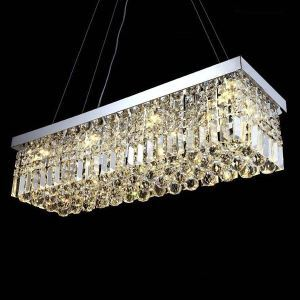Tiffany K9 Crystal Ceiling Pendant Light Chandeliers Lighting Hanging Lamps Fixtures with 100CM*25CM
