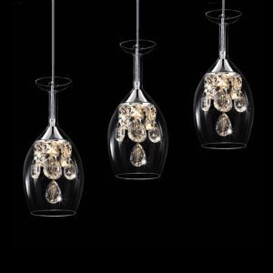 Crystal LED Mini Pendant Three Light