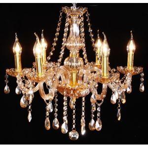 Amber 6 Lights Elegant  Crystal Chandelier for Home