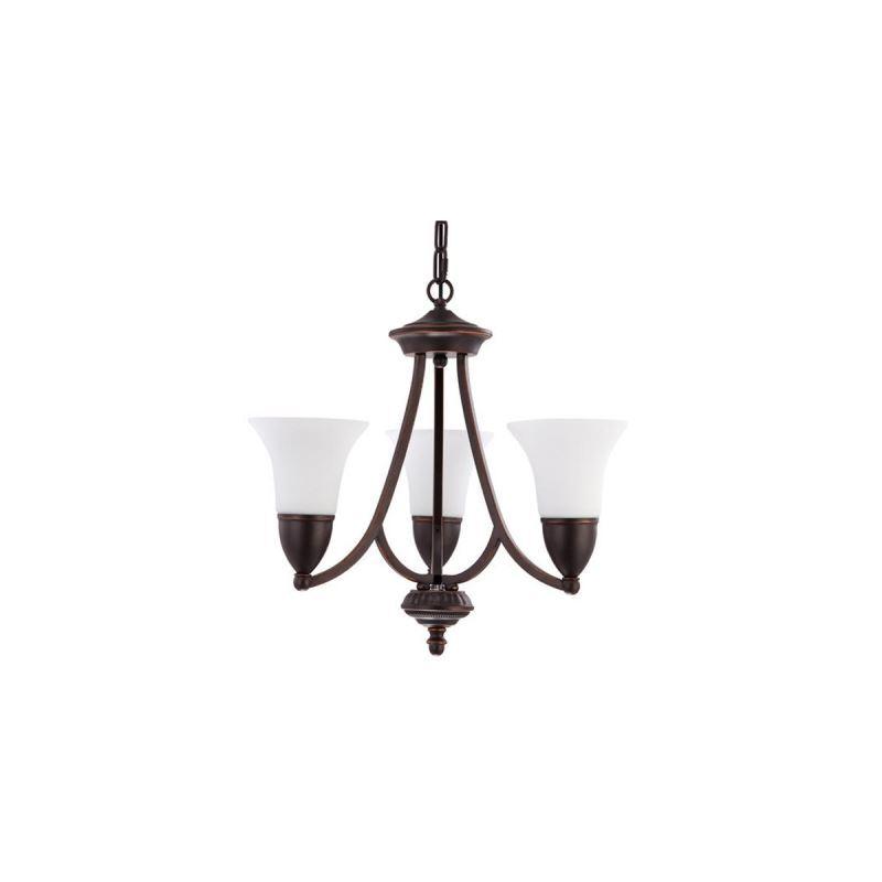 oil rubbed bronze 3 light white glass 1 tier chandelier