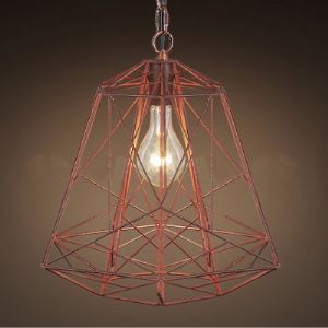 12 1/4' Wide Olde Copper Forged Iron 1 Light Pendant Lighting
