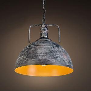 12''Width  Industrial 1 Light Galvanized Iron Dome Pendant