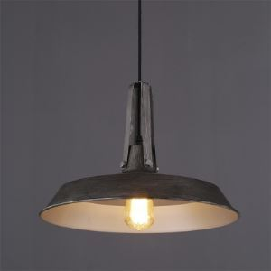 16'' W Industrial Pendant in Old Black Finish