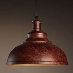 Antique Copper 1 Light Down Lighting Dome Shade Indoor Pendant