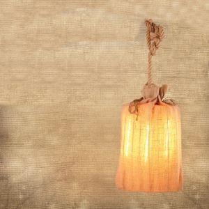 3 Lt Fabric Shade 24'' H Hanging Lantern