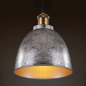 Mottled Iron Bowl Shape Single Light Indoor Pendant