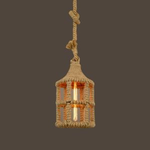 Natural Rope Single Light Indoor Mini Pendant