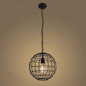 Round Small 1 Lt Pendant Light with Heavy Wire Guard