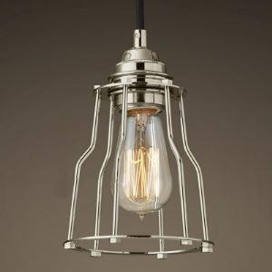 Single Light Chrome Cage Indoor Mini Pendant Lighting