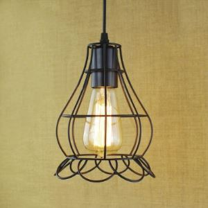6 Inches Wide Industrial 1 Light Pendant with Cage