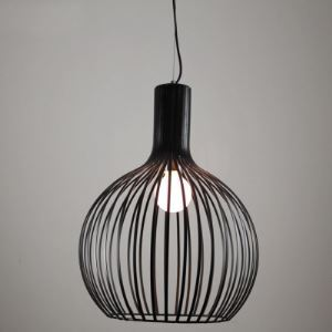 1 Light Mini Pendant with Globe Wire Guard