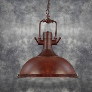 15'' Width Antique Copper 1 Light Barn Indoor Pendant Light