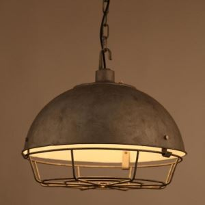 Old Iron 1 Light Dome Cage Pendant