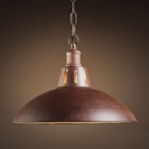 Antique Copper 1 Light  Bowl Barn/Warehouse Pendant Light
