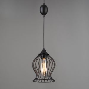 6' W Black Arc Steel Foyer Pendant