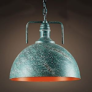 Green Galvanized Iron Single Light Down Lighting Barn Metal Pendant