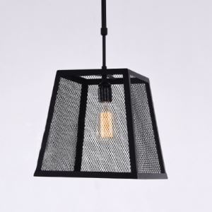 11 Inches Wide Single Light Small Foyer Pendant with Mesh Shade