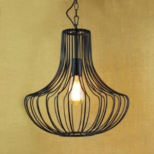 Birdcage 14'W Matte Black  Pendant Light