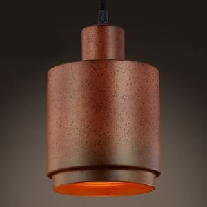 Distressed Copper 1 Light  Cylinder Pendant