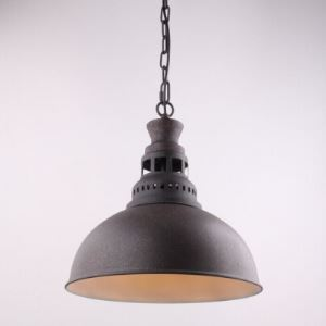 14 Inches Wide Industrial Single Light Pendant with Adjustable Chain