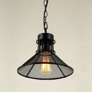 Industrial Metal 12' Wide Black Small  Pendant
